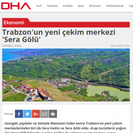 2017-12-22 - Dha - Internet - Sera Lake Resort Hotel Trabzon