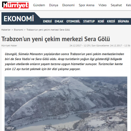 2017-12-24 - Hürriyet - Internet - Sera Lake Resort Hotel Trabzon