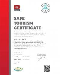 Safe Tourism Certificate - Sera Lake Resort Hotel Trabzon