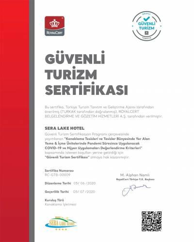 Güvenli Turizm Belgesi - Sera Lake Resort Hotel Trabzon